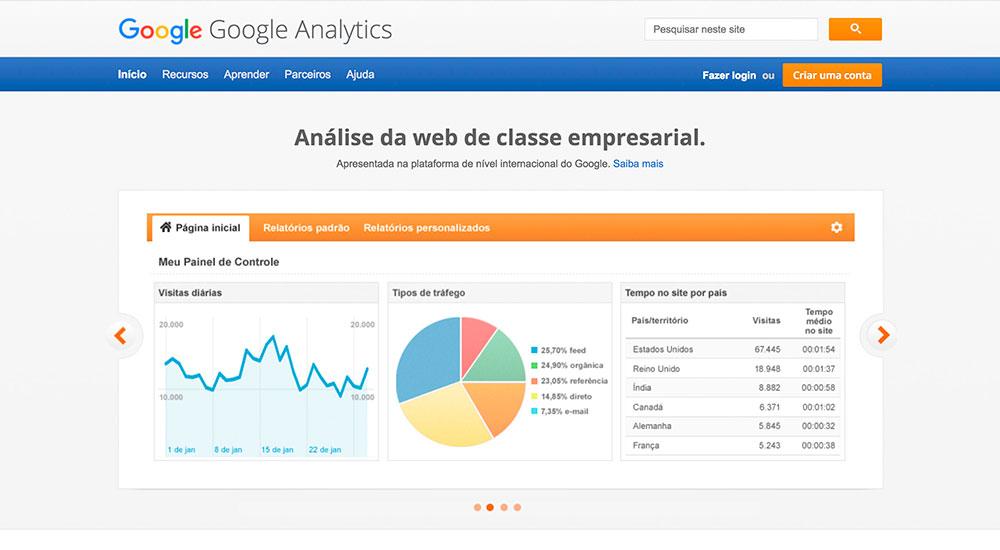como usar o google analytics login